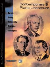 Contemporary Piano Literature; Book 5 (Book) (Piano); #YL00-0110S Ed. Frances Clark and Louise Goss