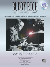 Buddy Rich: Jazz Legend (1917-1987); Transcriptions and Analysis of the World's Greatest Drummer (Book) (Drumset); Jazz; #YL00-0112B Buddy Rich