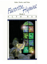 Favorite Hymns; Book 2 (Book); Alto Sax (Saxophone); Hymn; Sacred; #YL00-0128B Arr. various