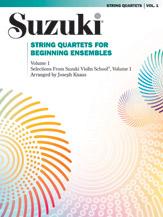 String Quartets for Beginning Ensembles; Volume 1 (Book) (String Quartet); #YL00-0281S Arr. Joseph Knaus