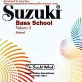 Suzuki Bass School CD, Volume 3 (Revised)