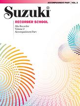 Suzuki Recorder School (Alto Recorder) Accompaniment; Volume 2 (Book) (Recorder); #YL00-0550