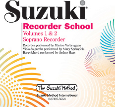 Suzuki Recorder School (Soprano Recorder) CD, Volume 1 & 2