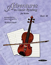 Adventures in Music Reading for Violin (Book) (Violin); #YL00-0665 By William Starr