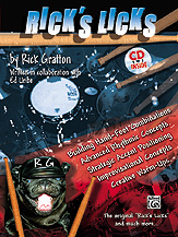 Rick's Licks (Book & CD) (Drumset); #YL00-0715B By Rick Gratton