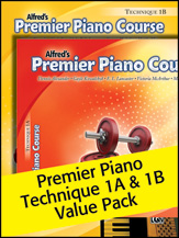 Premier Piano Course; Technique 1A & 1B (Value Pack) (Packet); Piano (Piano); Technique; #YL00-105267 By Dennis Alexander; Gayle Kowalchyk; E. L. Lancaster; Victoria McArthur; and Martha Mier