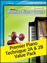Premier Piano Course; Technique 2A & 2B (Value Pack) (Packet); Piano (Piano); Technique; #YL00-105268 By Dennis Alexander; Gayle Kowalchyk; E. L. Lancaster; Victoria McArthur; and Martha Mier