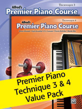 Premier Piano Course; Technique 3 & 4 (Value Pack) (Packet); Piano (Piano); Technique; #YL00-105492 By Dennis Alexander; Gayle Kowalchyk; E. L. Lancaster; Victoria McArthur; and Martha Mier