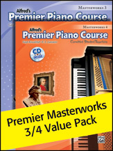 Premier Piano Course, Masterworks 3 & 4 (Value Pack)