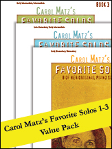 Carol Matz's Favorite Solos 1-3 (Value Pack)