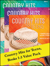 Country Hits for Teens 1-3 (Value Pack) (Packet) (Piano); Country; Pop; #YL00-106587 Arr. Dan Coates