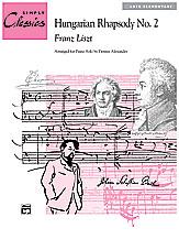 Hungarian Rhapsody No. 2 (Sheet) (Piano); Masterwork Arrangement; #YL00-14339 By Franz Liszt / arr. Dennis Alexander