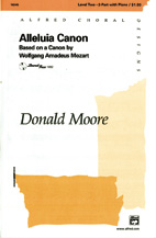 Alleluia Canon : 2-Part : Donald Moore : Sheet Music : 00-16345 : 038081142340