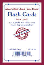 Alfred's Basic Adult Piano Course: Flash Cards, Level 1
