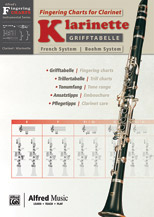 Grifftabelle fur Klarinette Boehm-System [Fingering Charts for Clarinet -- French System]