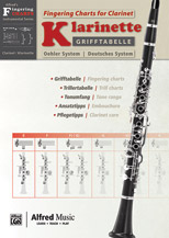 Grifftabelle fur Klarinette Deutsches System [Fingering Charts for Clarinet -- Oehler System]