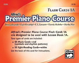 Premier Piano Course, Flash Cards 1A
