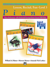 Alfred's Basic Piano Library: GM Disk -- Lesson, Recital & Fun Books, Level 3 (for 3 books)