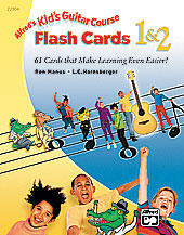 Alfred's Kid's Guitar Course Flash Cards 1 & 2