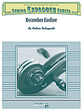 December Fanfare: 3rd Violin (Viola [TC])