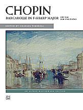 Barcarolle in F-sharp Major, Opus 60