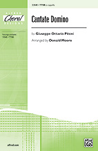Cantate Domino : TTBB : Donald Moore : Sheet Music : 00-33040 : 038081359489