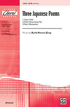 """Three <span style=""""color:red;"""">Japan</span>ese Poems : SATB : 0 : Sheet Music : 00-33069 : 038081359779"""