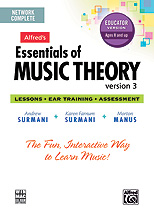 Alfred's Essentials of Music Theory: Software, Version 3 Network Version, Complete Volume (for 5 users---$40 each additional user)