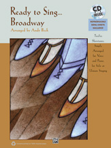 Arr. Andy Beck : Ready to Sing... Broadway : Solo : Songbook & CD : 038081400068  : 00-35810
