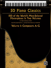 50 Piano Classics, Volume 1: Composers A-G