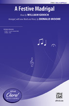 A Festive Madrigal : SSA : Donald Moore : Sheet Music : 00-37858 : 038081423302