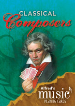 Alfred's Music Playing Cards: Classical Composers (1 Pack)  By Karen Farnum Surmani and Andrew Surmani (#AL-00-38799) thumbnail