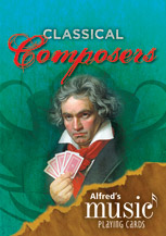Alfred's Music Playing Cards: Classical Composers (12 Pack)  By Karen Farnum Surmani and Andrew Surmani (#AL-00-39322) thumbnail
