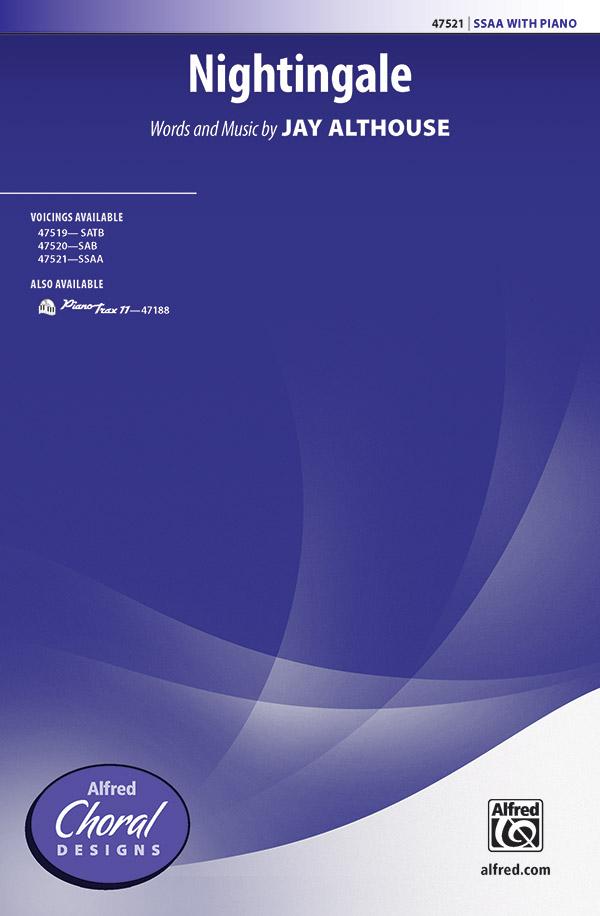 Nightingale : SSAA : Jay Althouse : Sheet Music : 00-47521 : 038081542140