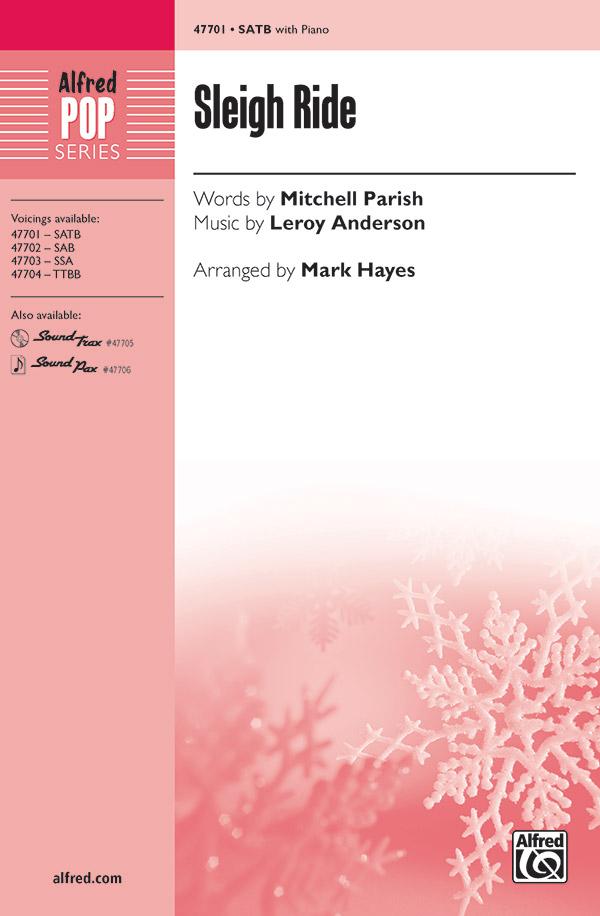 Mark Hayes : Sleigh Ride : Showtrax CD : 038081543987  : 00-47705