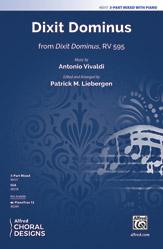 Dixit Dominus : 3-Part Mixed : Patrick M. Liebergen : Antonio Vivald : Sheet Music : 00-48317 : 038081551401