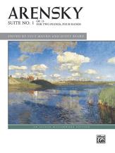 Arensky: Suite No. 1, Op. 15 (2p, 4h)