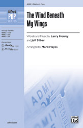 The Wind Beneath My Wings : 3-Part Mixed : Mark Hayes : Bette Midler : Sheet Music : 00-48881 : 038081562056