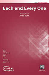 Each and Every One : SATB : Andy Beck : Sheet Music : 00-48893 : 038081562179