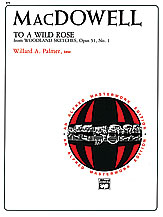 To a Wild Rose, Opus 51, No. 1