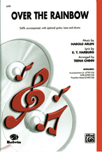 Over the Rainbow : SATB : Teena Chinn : Harold Arlen : The Wizard of Oz : Sheet Music : 00-CH95135 : 029156189650