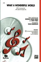 What a Wonderful World : SAB : Russell L. Robinson : Bob Thiele : Louis Armstrong : Sheet Music : 00-CHM00013 : 654979007326