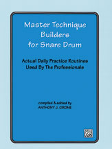 Master Technique Builders for Snare Drum