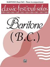 Classic Festival Solos (Baritone B.C.), Volume 1 Piano Acc.