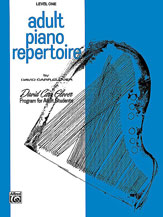 Adult Piano Repertoire, Level 1
