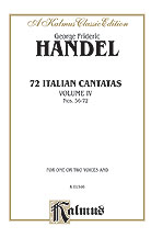 72 Italian Cantatas for Soprano or Alto, Volume IV, Nos. 56-72