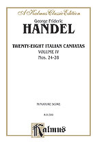28 Italian Cantatas with Instruments, Volume IV, Nos. 24-28 (Mostly for Soprano)