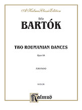 Two Roumanian Dances, Opus 8A