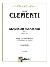 Gradus ad Parnassum, Volume I