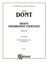 Dont: Thirty Progressive Exercises, Op. 38